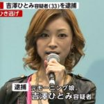 吉澤ひとみがひき逃げで逮捕。弟の事故・衝突事故に続き神経疑う・ありえないなどの反応!